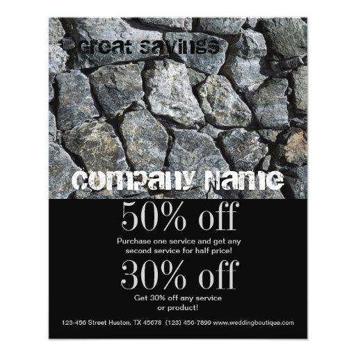 indústria da construção de pedra cinzenta da textu panfletos