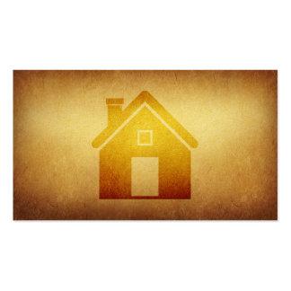 Indústria da construção forrada dos bens imobiliár modelo cartoes de visitas