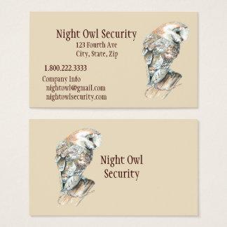 Indústria da segurança da coruja de celeiro da cartão de visitas