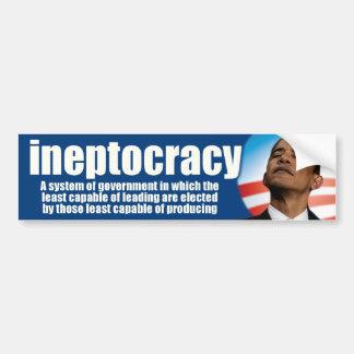 ineptocracy - anti Obama Adesivo Para Carro