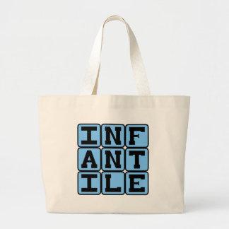 Infantil, muito novo bolsas para compras