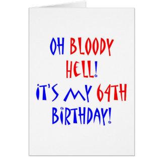 Inferno 64 sangrento cartão