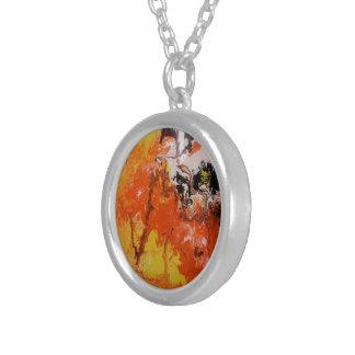 Inferno de Dantes - pendente da prata esterlina Colar Com Pendente Redondo