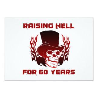 Inferno de levantamento por 60 anos convites