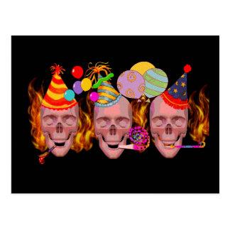 Inferno do aniversário cartão postal