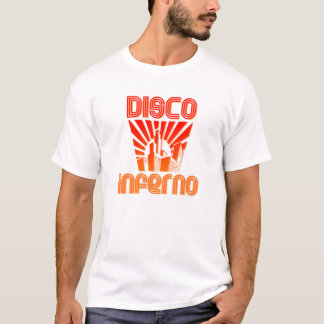 inferno do disco camiseta