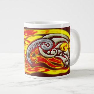 Inferno na caneca do jumbo das rodas jumbo mug