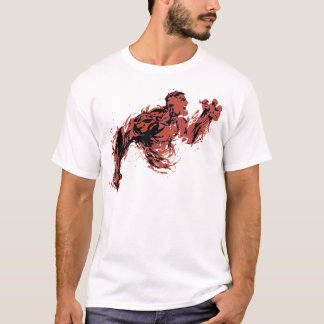 Inferno vermelho camiseta