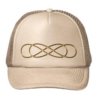 Infinidade dobro do símbolo - ouro antigo boné