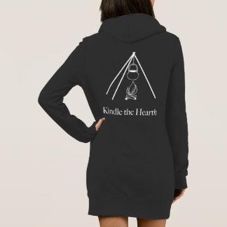 Inflame o vestido do hoodie da lareira