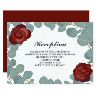 Informação cor-de-rosa da recepção de casamento convite 8.89 x 12.7cm