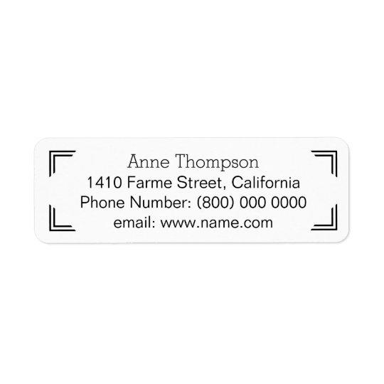 informação de endereço limpa & clara etiqueta endereço de retorno