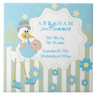 Informação do nascimento - cegonha azul do bebé