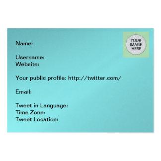 Informação do Tweet os presentes de Zazzle do Cartão De Visita Grande