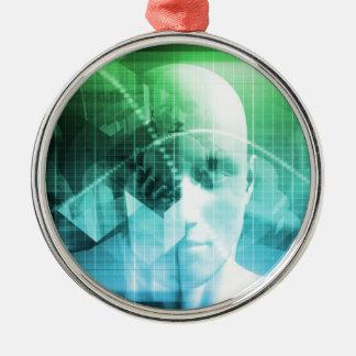 Informação dos dispositivos de Digitas da Ornamento Redondo Cor Prata