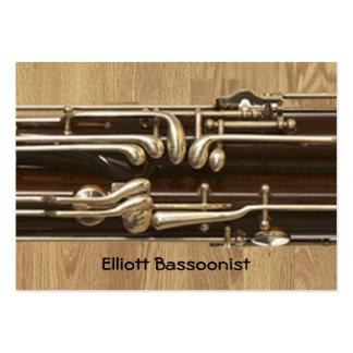 Informações de contacto do Bassoonist Modelos Cartão De Visita