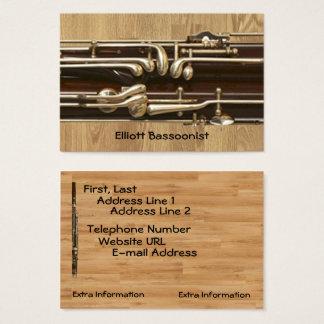 Informações de contacto do Bassoonist Cartão De Visitas