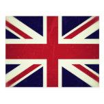 Inglaterra Bandeira Grunged Cartão Postal
