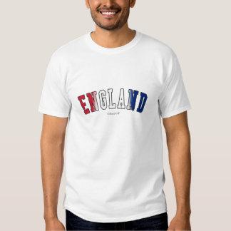 Inglaterra em cores da bandeira nacional t-shirts