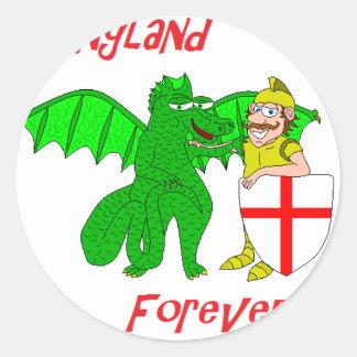 Inglaterra para sempre adesivos redondos
