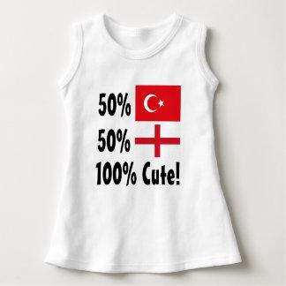 Inglês 100% do turco 50% de 50% bonito vestido