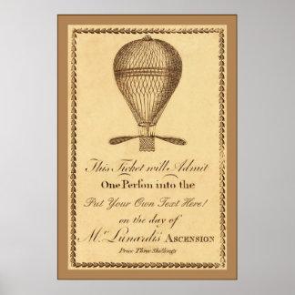 Inglês 1784 do vintage do ~ do ~ de Ascensão do Sr Impressão