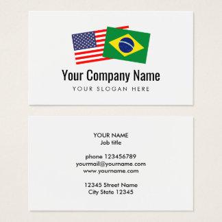 Inglês americano português brasileiro da tradução cartão de visitas