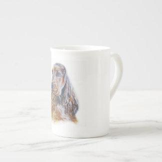 Inglês cocker spaniel xícara de chá