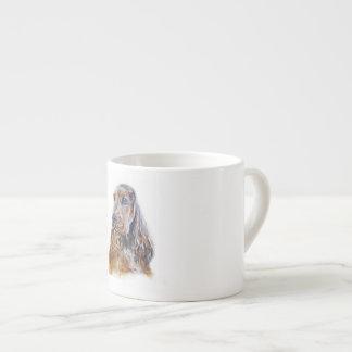 Inglês cocker spaniel xícara de espresso