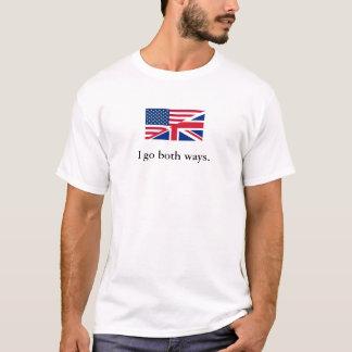 Inglês contra o inglês americano camiseta