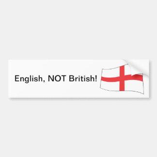 Inglês, nao britânico! - Autocolante no vidro tras Adesivo Para Carro