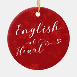 Inglês no coração, ornamento da árvore de Natal,