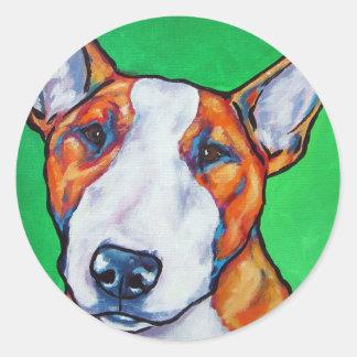 Inglês vermelho/branco bull terrier adesivos