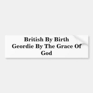 Ingleses pelo nascimento Geordie pela graça de deu Adesivo