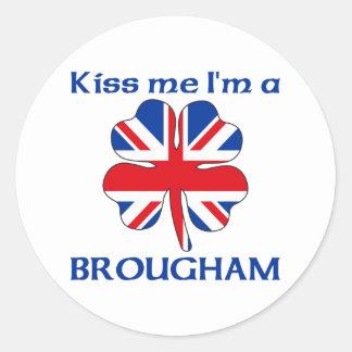 Ingleses personalizados beijam-me que eu sou adesivo redondo