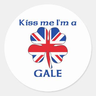 Ingleses personalizados beijam-me que eu sou adesivos redondos