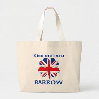 Ingleses personalizados beijam-me que eu sou carri bolsas de lona
