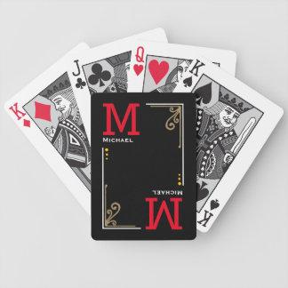 iniciais à moda legal do jogador - preto jogo de carta