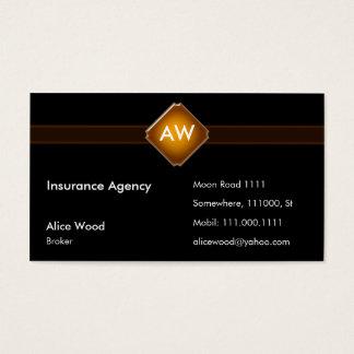 Iniciais da agência   do seguro cartão de visitas