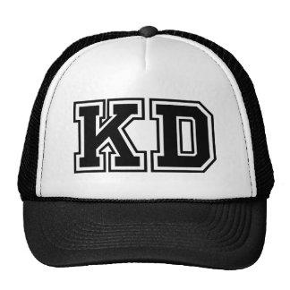 """Iniciais do monograma """"KD"""" Boné"""