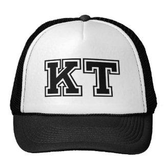 """Iniciais do monograma """"KT"""" Boné"""