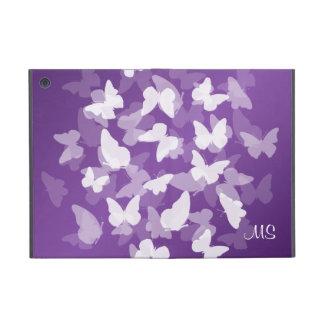 Iniciais feitas sob encomenda das borboletas roxas iPad mini capa