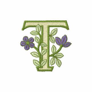 Inicial T do monograma da flor