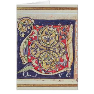 Inicial 'U de Historiated Cartão
