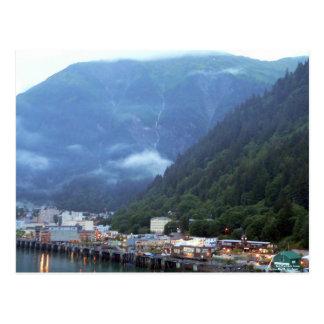 Início da noite no cartão de Juneau