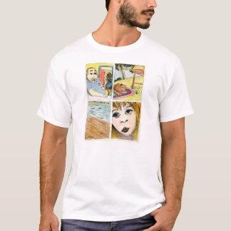 Início do t-shirt do branco da turbulência camiseta