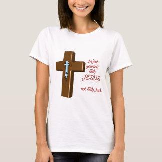 Injete-se com Jesus Camiseta