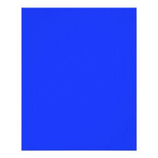 Insecto azul de néon brilhante panfletos personalizados
