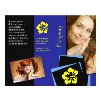 Insecto azul elegante do design do cabelo da saúde panfleto