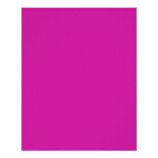 Insecto cor-de-rosa de néon quente panfletos personalizados